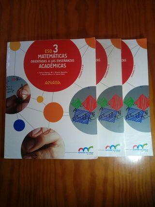Libros de matemáticas 3°ESO