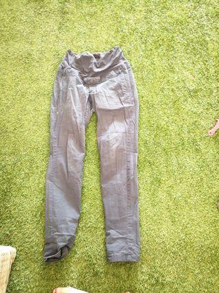 pantalón premama azul oscuro verano