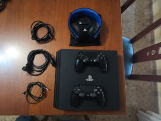 PS4 PRO 1TB 2 MANDOS CASCOS PLAYSTATION 4K SONY