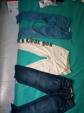 Pantalones niña talla 7-8 años