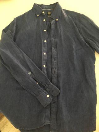 Camisa lino azul vaquero Pedro del Hierro