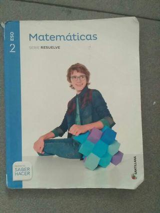 libro matemáticas 2 ESO SANTILLANA