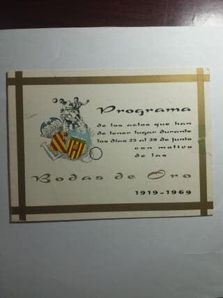 libreto bodas de oro del valencia c.f