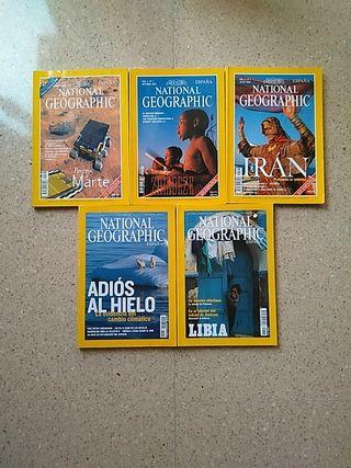 4€ el lote, revistas, national goegraphic