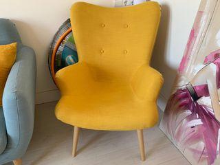 Butaca escandinava amarilla