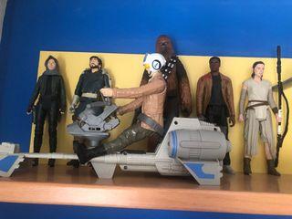 Star wars colección de figura grandes