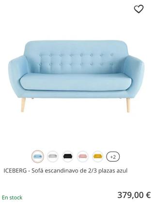 Sofá estilo escandinavo