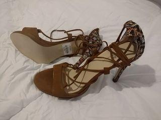 sandalias nuevas piel combinadas Gloria Ortiz