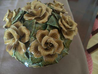 Centro ceramica flores
