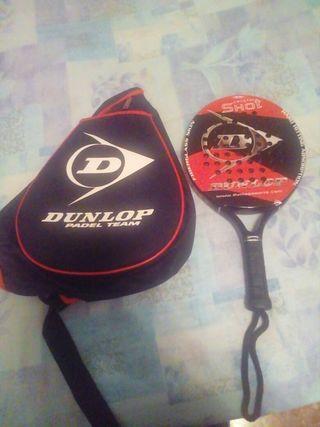 raqueta de padel + funda dunlop