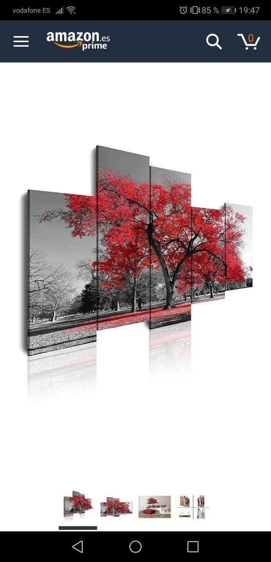 Cuadro moderno lienzo 5 piezas