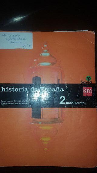 Historia de España. 2 bachiller ISBN 9788467587166
