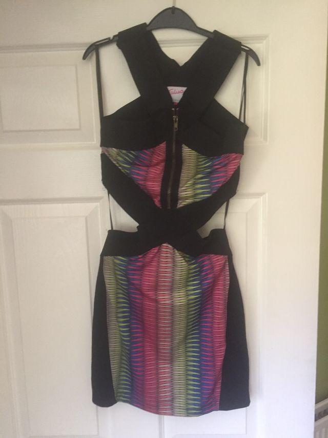 Tulisa Tfb collection mix cutout back dress size 8