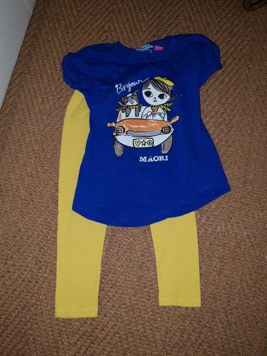 niña talla 6 leggins y camisa