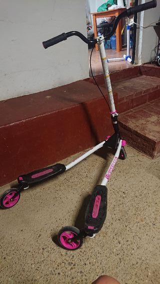 patinete rosa hasta 100 kg