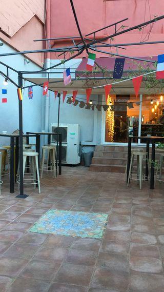 Restaurante, bar, cocina industrial, horno, aire a