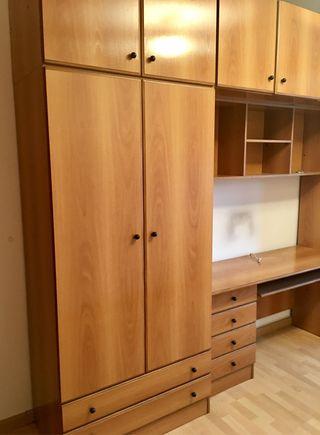 Armario modular con escritorio. Como nuevo