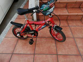 bicicleta de niño cars