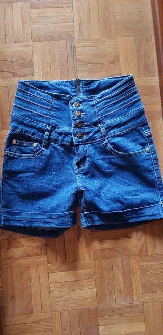 short pantalón vaquero