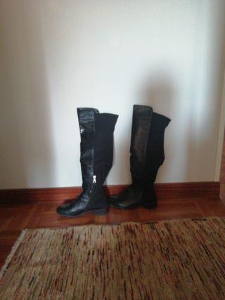 d23a42b7 Botas altas de piel de segunda mano en Gijón en WALLAPOP