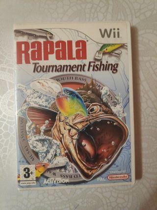 juego wii rapala tourment fishing