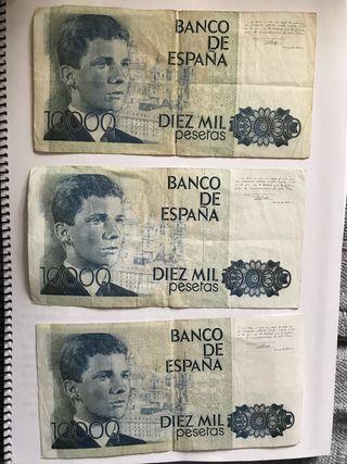 Billetes 10.000 pesetas
