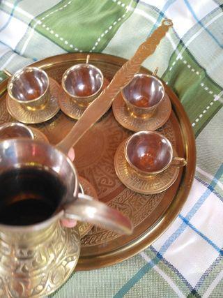 set de café de bronce