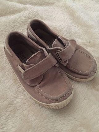 Zapatillas de lona beige niño n25