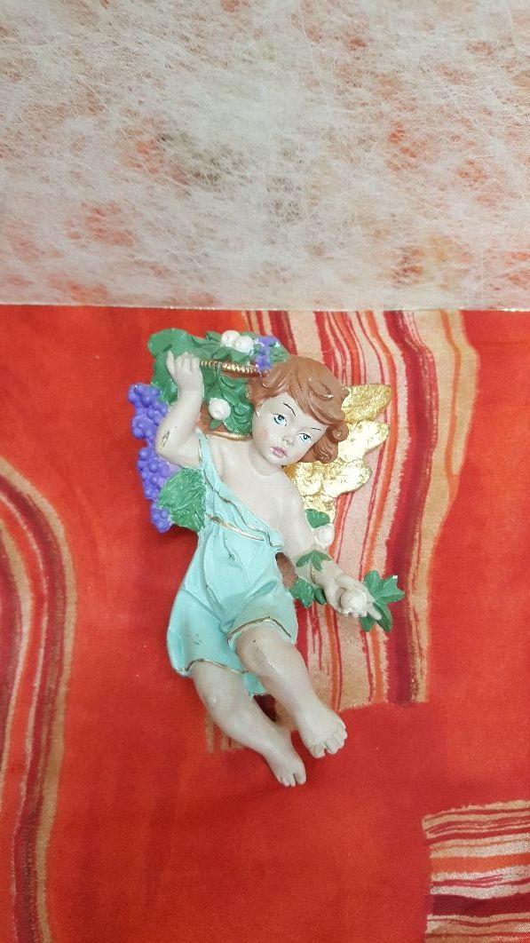 Ángel alabastro pintado a mano