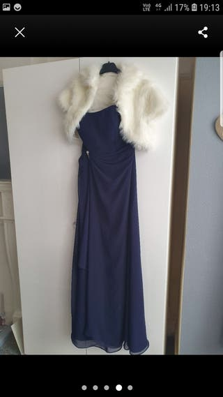navy blue bridesmaid/prom dress