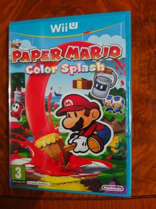 paper Mario color nintendo Wii u Pal esp precintad