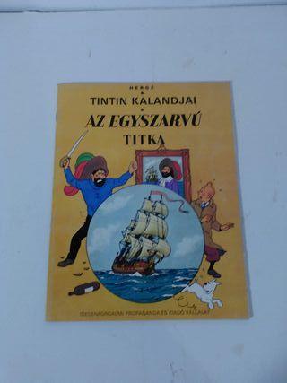 Az Egyszarvú Titka. Tintin 1ª edicion en Hungaro