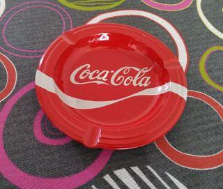 Coca Cola: Cenicero de chapa