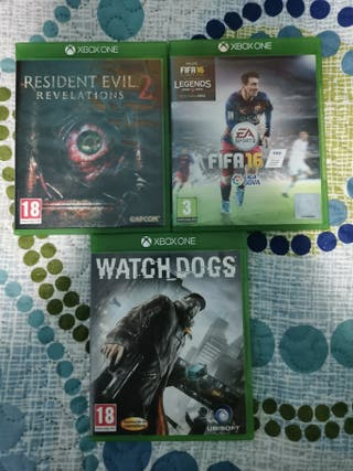 pack 3 juegos Xbox one