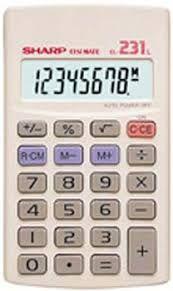 Calculadora SHARP Elsi Mate EL-231 l