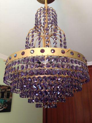 6 lámparas cristal strass