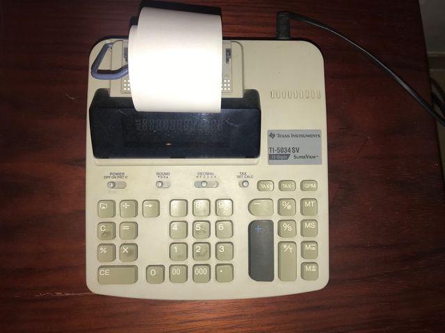 Calculadora papel tipo ticket