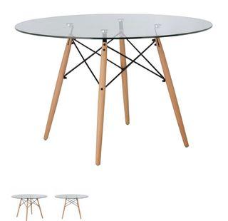Mesa de vidro con 4 sillas