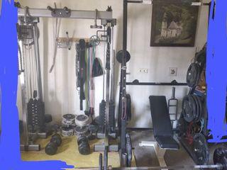 Gimnasio fuerza musculacion pesas