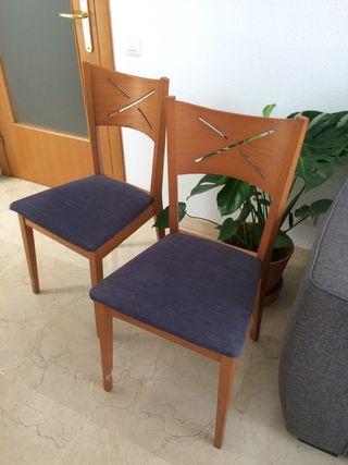 2 sillas de comedor x 10€