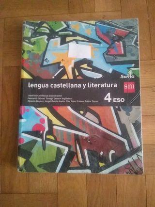 libro de 4 ESO Lengua castellana y literatura.