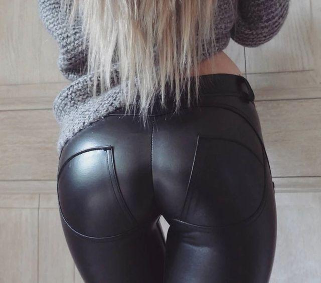 pantalón de cuero piel