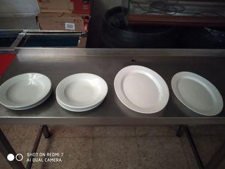 platos bandejas porcelana hostelería