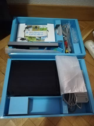 Consola wii negra Completa con caja, LEER.