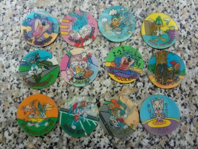 Lote pack 12 Tazos tazo mixto Pogs Pog Cap Caps