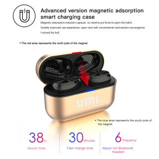 Auriculares Bluetooth 5.0 TWS UMI
