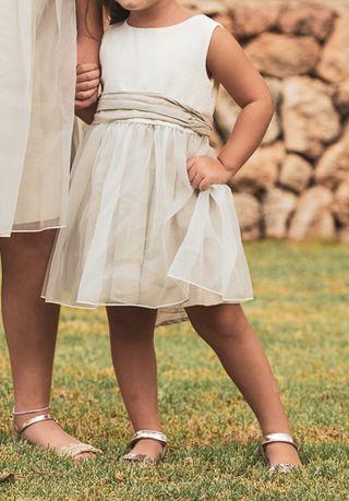 vestido corto de niña boda/comunión