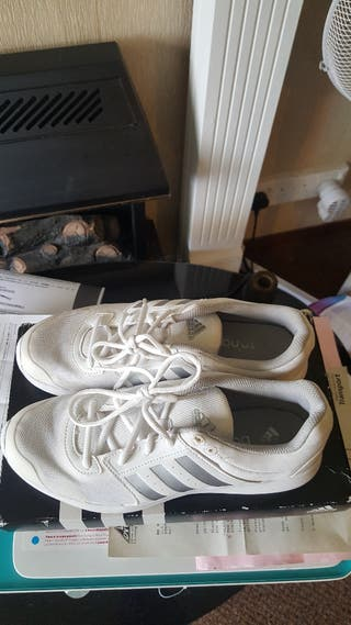 Adidas essential fun white and silver trainers