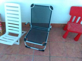 silla de playa plegable