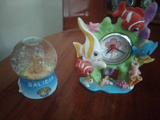 Bola de cristal de recuerdo y Reloj - Galicia
